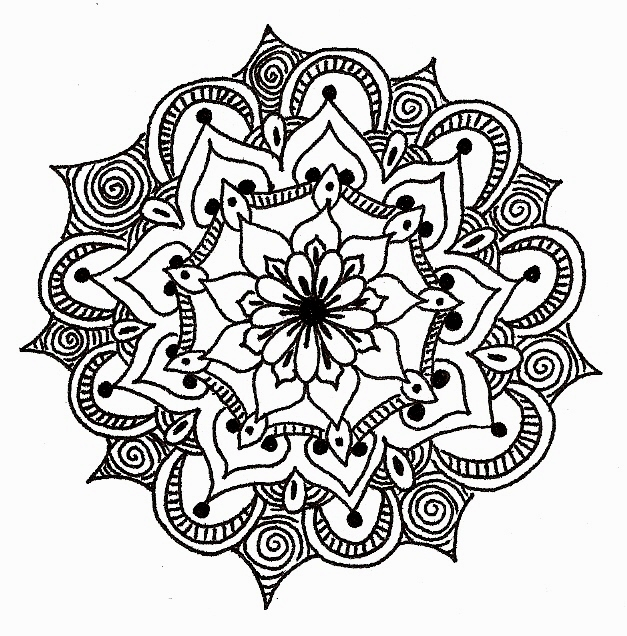 How To Draw Simple Mandala Images amp Pictures Becuo